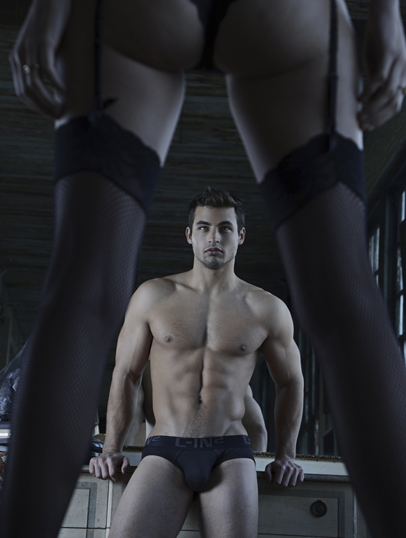 Le lo no show profile brief noir de la gamme CORE de C-in, sous-vetêment américain